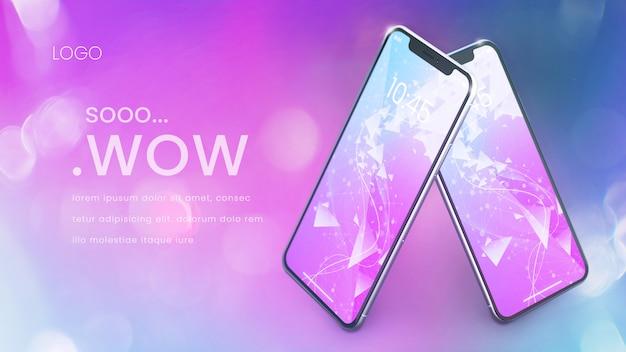 Mockup di telefono perfetto pixel moderno