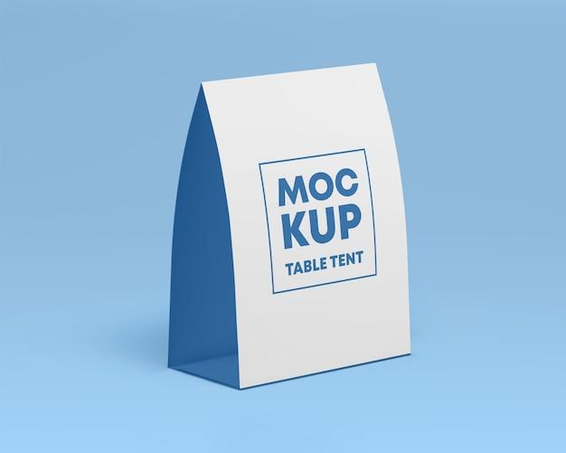 Mockup di tenda da tavolo di carta