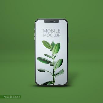 Mockup di vista frontale del dispositivo mobile del telefono