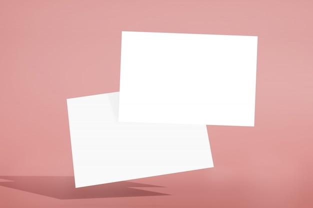 Mockup di visualizzazione della carta di rendering 3d per creatore di scene