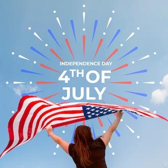 Mockup del día de la independencia con copyspace