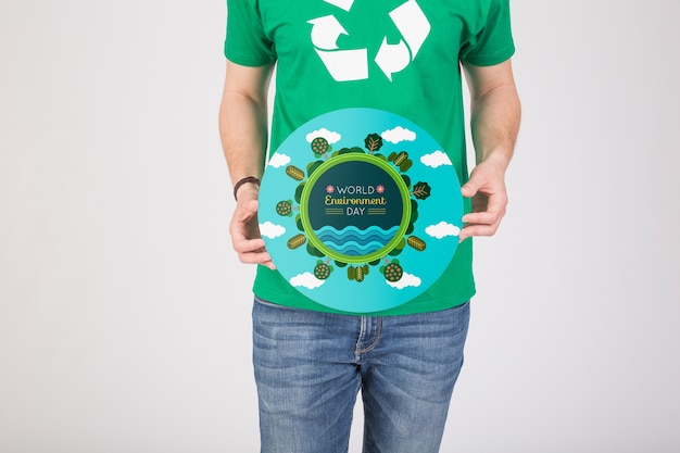 Mockup del día mundial del medio ambiente