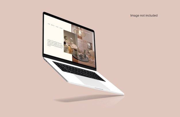 Mockup digitale per laptop