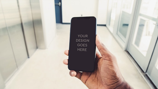 Mockup display del telefono