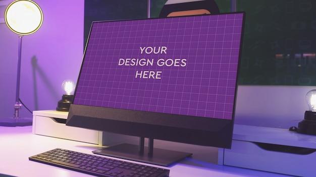 Mockup display pc tutto in uno
