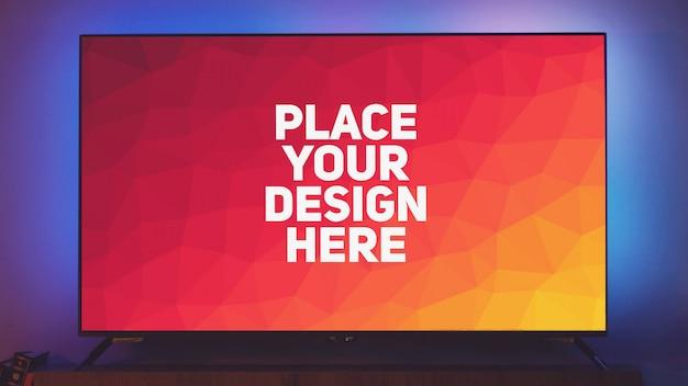 Mockup display televisivo