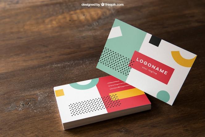 Mockup elegante de tarjetas de visita