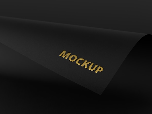 Mockup elegante de papel negro