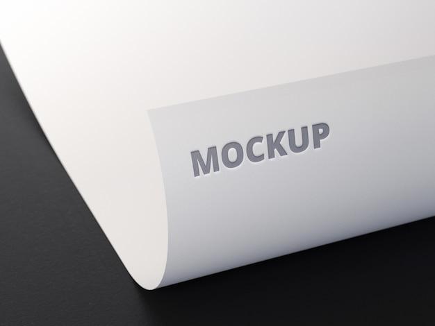 Mockup elegante de papel