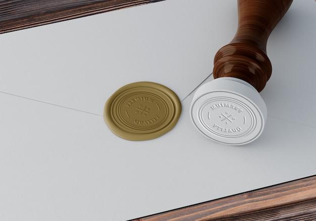 Mockup elegante de sello