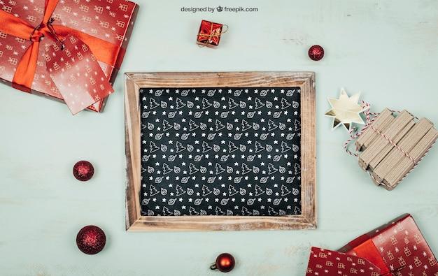 Mockup de elementos de navidad