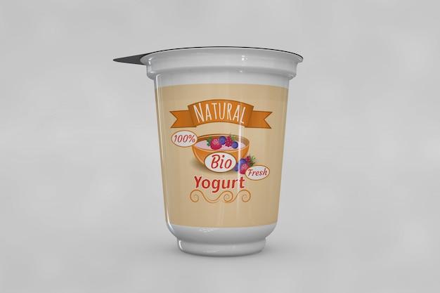 Mockup de envase de yogur