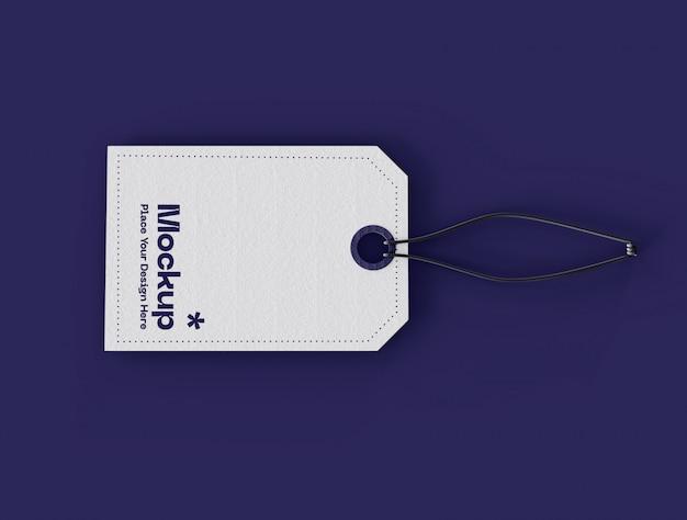 Mockup etichetta prezzo etichetta