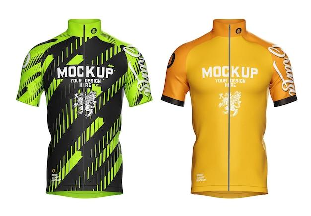 Mockup fietsshirt jersey