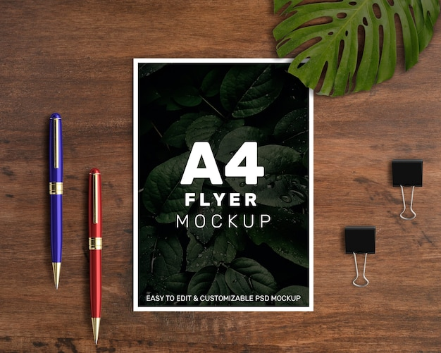 Mockup de flyer a4 vertical