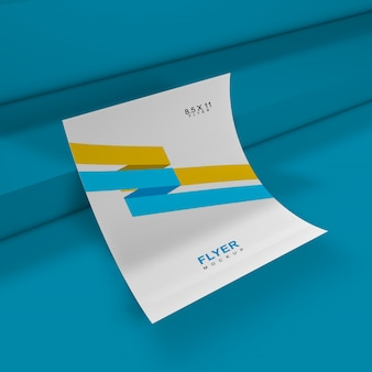 Mockup flyer elegante e semplice