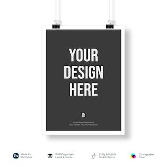 Mockup flyer poster brochure papier basisontwerp