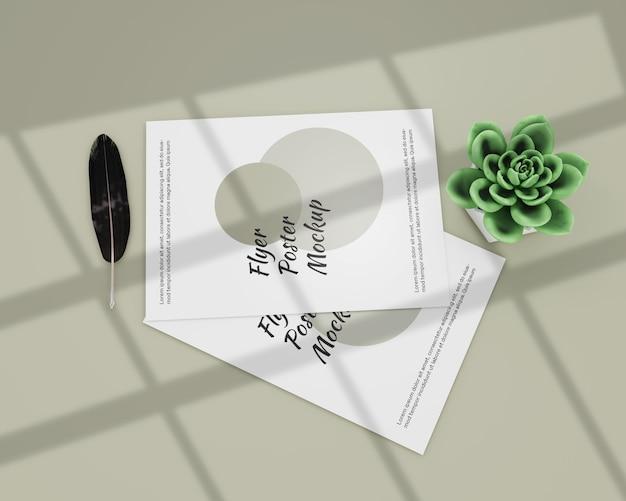 Mockup flyer poster eenvoudig Premium Psd