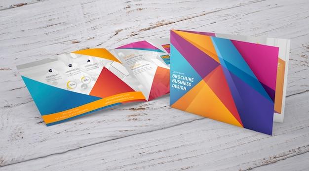Mockup de folleto con concepto de presentación