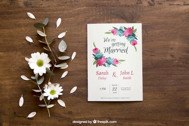 Mockup de folleto floral