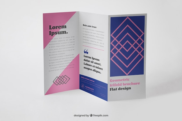 Mockup de folleto tríptico corporativo