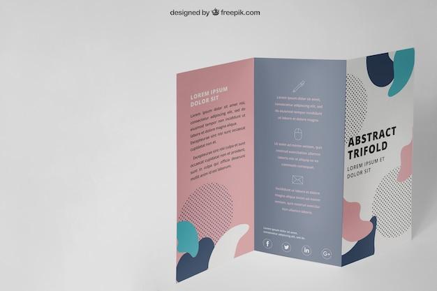 Mockup de folleto tríptico