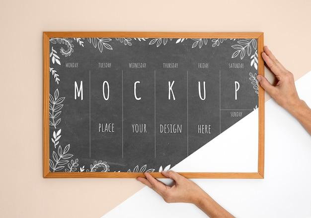 Mockup frame close-up