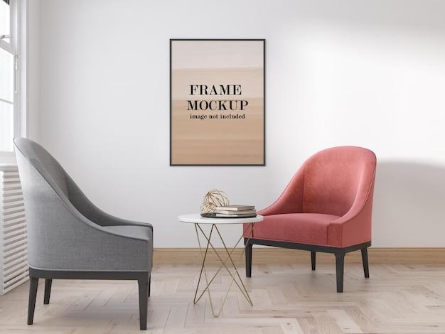 Mockup frame ontwerpweergave