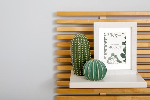 Mockup-frame op plank