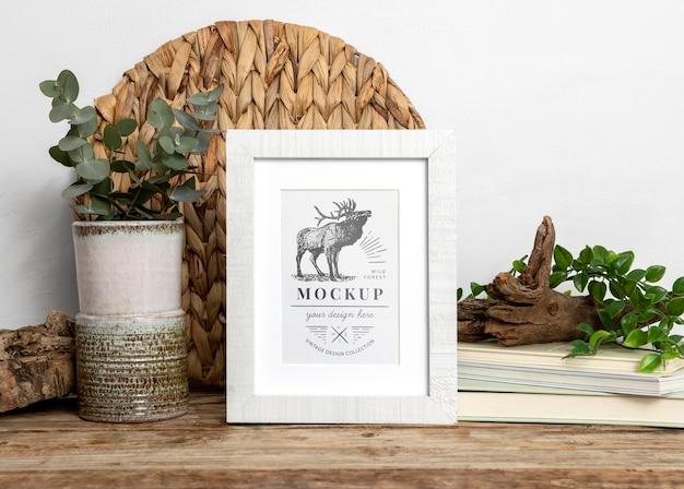 Mockup frame op tafel