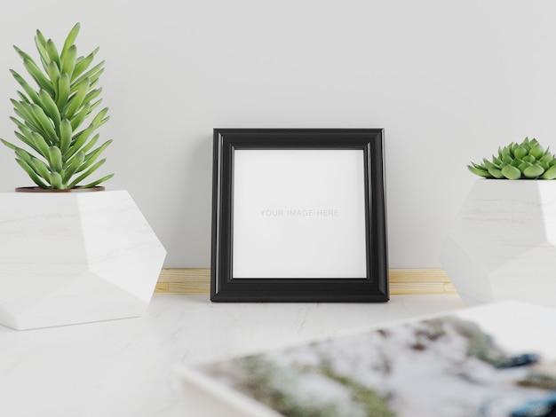 Mockup frame vierkant klein