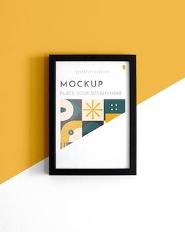 Mockup-frames op de muur