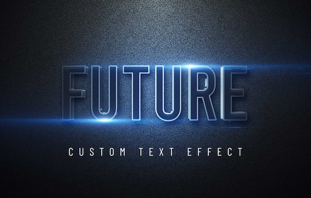 Mockup futuristico effetto testo 3d