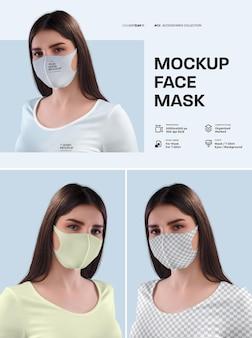 Mockup gezichtsmasker ontwerp