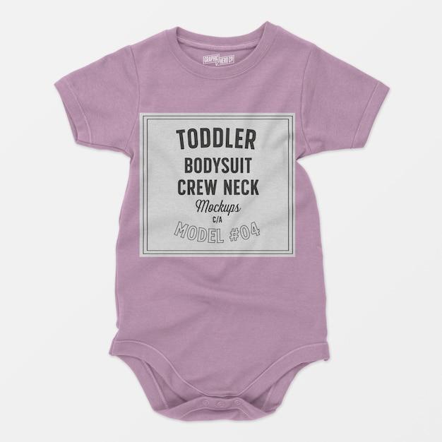 Mockup girocollo body bambino | PSD Gratis