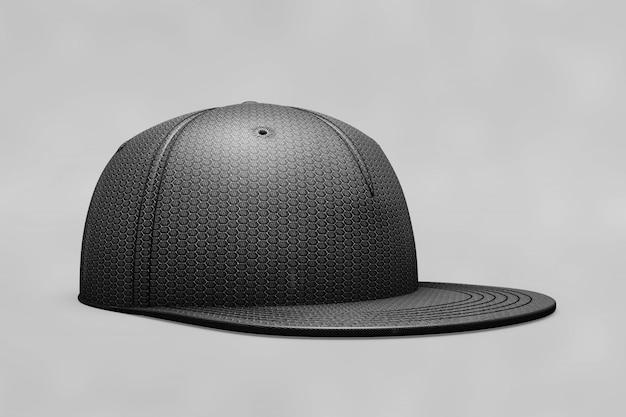 Mockup de gorra de béisbol negra