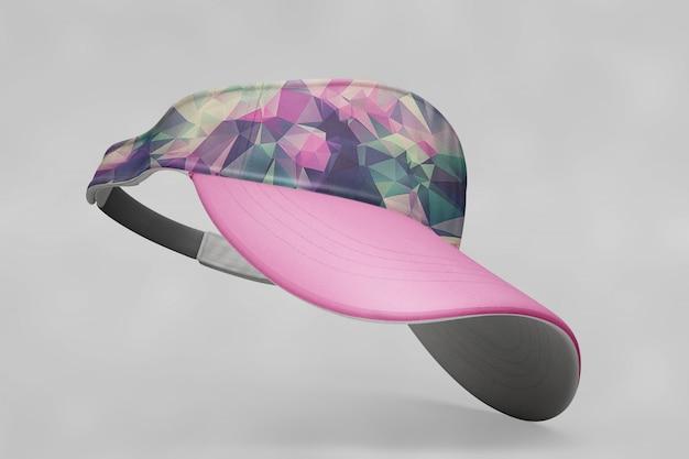 Mockup de gorra de béisbol rosa