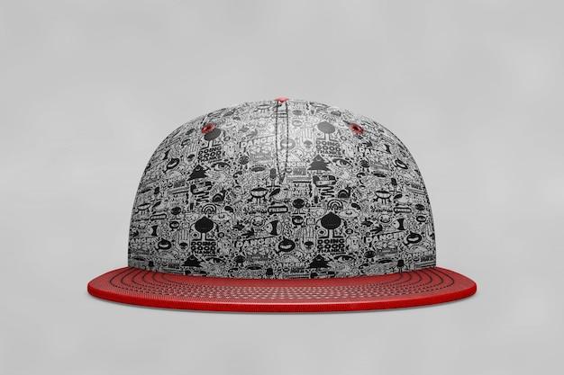 Mockup de gorra de béisbol de vista frontal