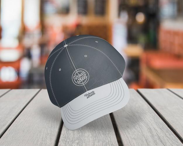 Mockup de gorra para merchandising