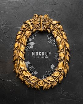 Mockup gouden frame