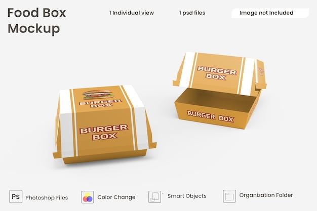 Mockup hamburgerbox premium psd