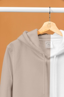 Mockup hoodie van dichtbij