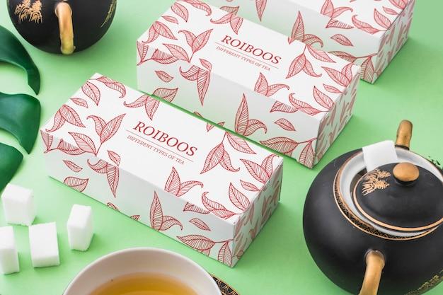 Mockup isométrico de té