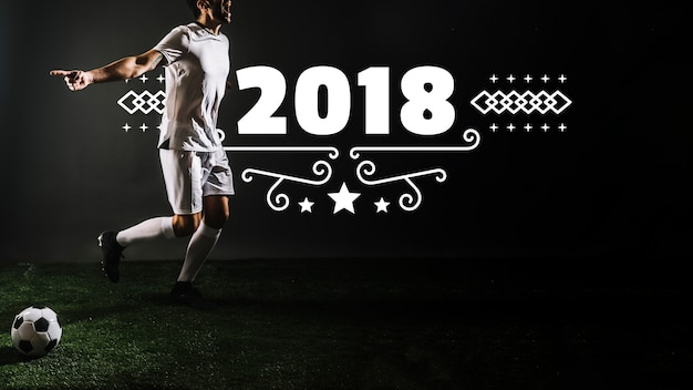 Mockup de jugador de fútbol