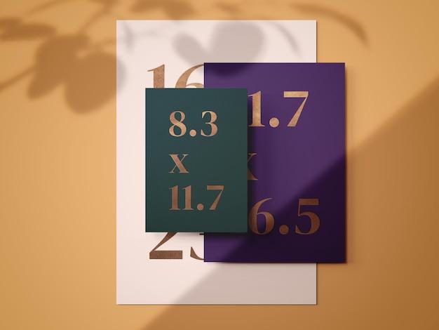 Mockup-kaartsjabloon afdrukken