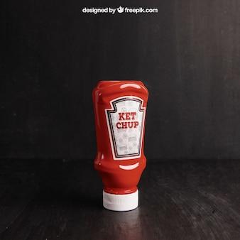 Mockup de ketchup
