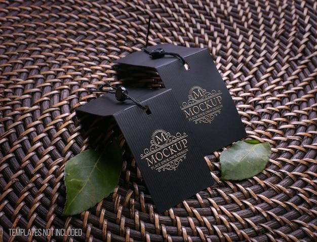 Mockup-label met gouden teksteffect