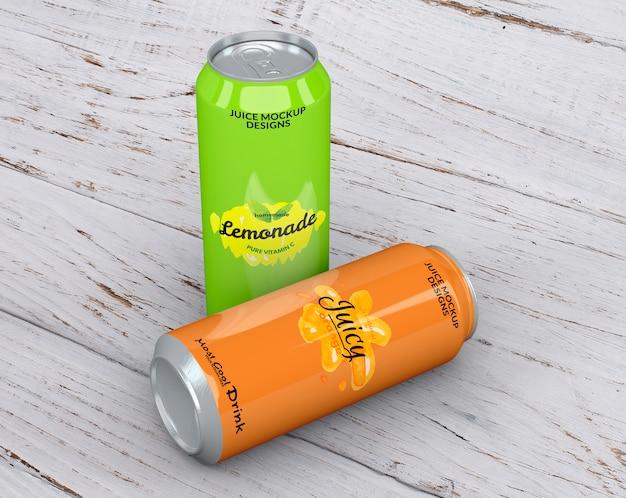 Mockup de lata de refresco