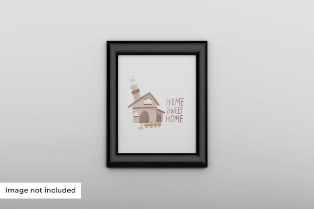 Mockup leeg fotokader op de muur