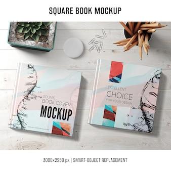 Mockup de libro cuadrado